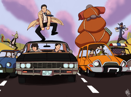 SPN - On The Open Road by Renny08