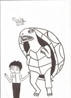 Toshiaki and Shelley the turtle by kmtvm123