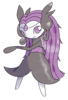 Commission: Meloetta Chorus Forme by CherubimonX