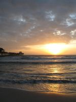 Naples Pier sunset by dreadedhippie
