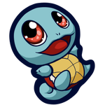 Squirtle Sticker by MegasArtsAndCrafts