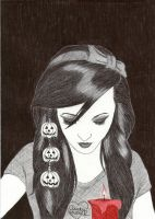 Ballpoint Halloween II by Cindy-R