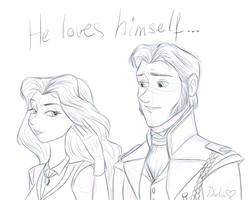 He loves himself... (sketch) by DarleenEnchanted