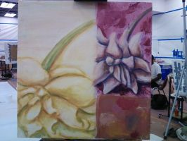 Painting Flowers by myriamelle