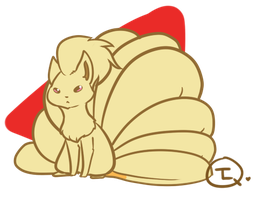 Doodley Chibi Ninetales by TheLonelyQueen