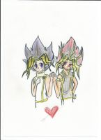 YamixYugi by NightWitchSnow