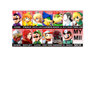 My smash bros mains by blackthunder040997