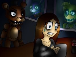 Me in 5 night at Freddy's by jessicathecrazycat