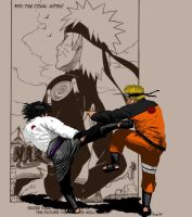 Naruto and Sasuke by KrisOwrey