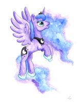 Luna Watercolor by HelicityPoni