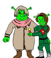 Shrek Russia And Fionna China by BabyFaceCrossbones