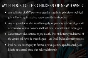 My Pledge to the Children of Newtown, CT by AskGriff