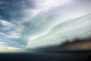 The Storm Rolls In by velochic