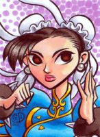 Chun Li sketch card by Chad73