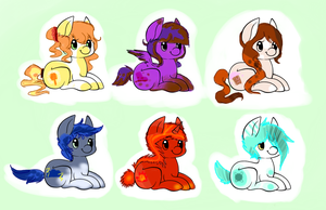 Mlp Adopts [OPEN] 3/6 left! by MaggiesAdoptables