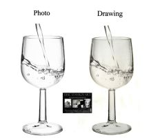 glass of water : photo VS drawing by ericstavros