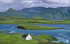 Scottish landscapes - Canna Island, Inner Hebrides by muzski