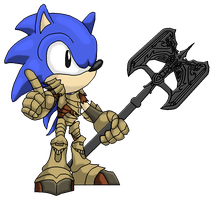 Sonic the Hedgehog: Skyrim Gear by Destro-the-Dragon