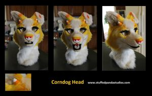 Corn Dog fursuit head by stuffedpanda-cosplay