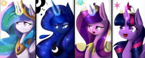 MLP Poster Princesses by TogeticIsa