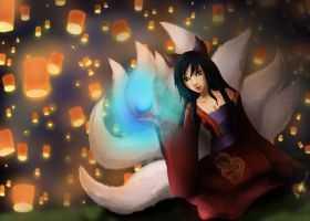 Ahri Lunar revel by spacechocolates