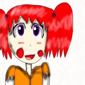 Lucy the human circus clown girl. by GoldenFredton235
