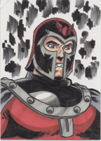 Magneto sketch card by Joe-Singleton