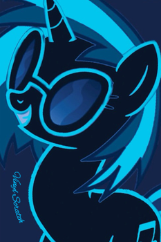 Vinyl Scratch ipod wallpaper by Talley212