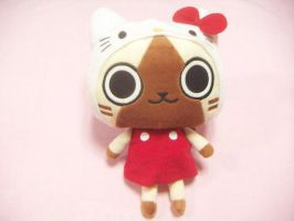 Monster Hunter Airou plush by thebabby4