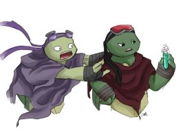 TMNT AU: How do you science? by Mosrael-the-Waker