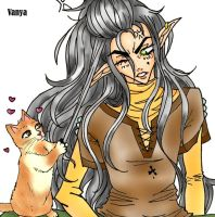 Feanor and kitty by Celerana-chan
