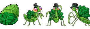 EggCave Adoptable: St. Patricks Mantis by Alkaline00