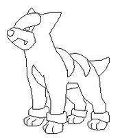 Houndour Base by thecat1313