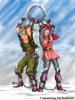 COM : Maara and Celena chained in snowy place by whiteguardian