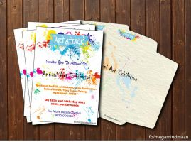 Invitation Card Design ~Art Attack~ by megamindmaan