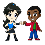 Chibi Eris and Andre by ArthurT2015