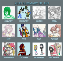 2013 Summary of Art by death-g-reaper