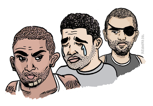 Chris Brown, Drake and Tony Parker Fight by AlexandraDal