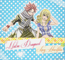 Natsu and Lucy ~ by Himephix