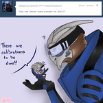 Garrus and Pocket Garrus by Tsukahime