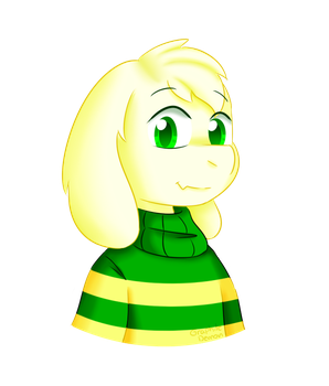 Asriel Dreemurr by graphite-demon-99