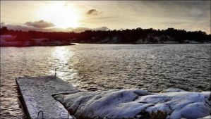 December 1st Morning After Snowstorm In Arcipelago by eskile