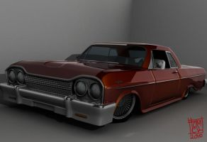 3D 1964 chevy impala 2 by pensilkertas