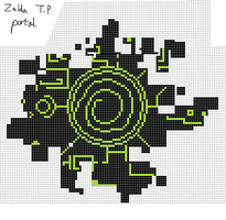 Twilight Princess Portal Pixel by Hama-Girl