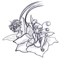 Tinker Bell and Bobble by Lilostitchfan