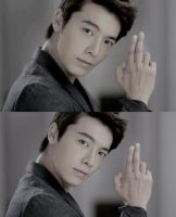Blue Eyes Donghae (comparison) by TrinityAng3l
