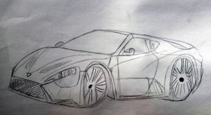 Art trade Zenvo ST1 by IlyaRacer