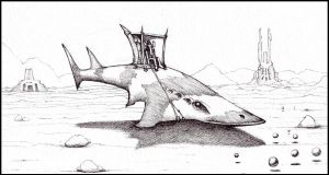 Hover Shark by farawayforest
