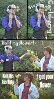 Hold My Flower - WTNV Cosplay Meme by TheAnimeOtakuStar