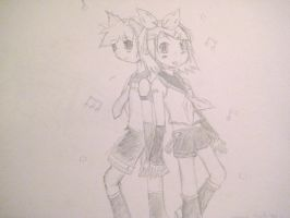 Vocaloid Kagamine Rin and Len by colorfulldrawer